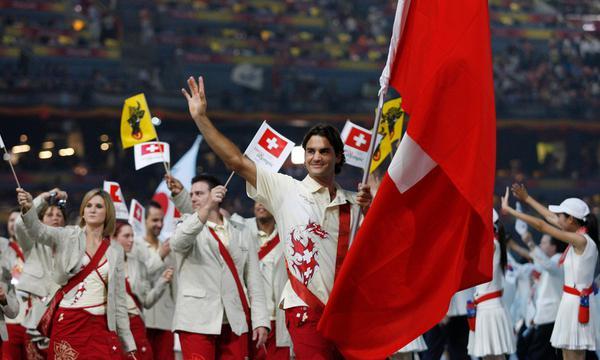 高清-盘点奥运开幕式上的网球旗手