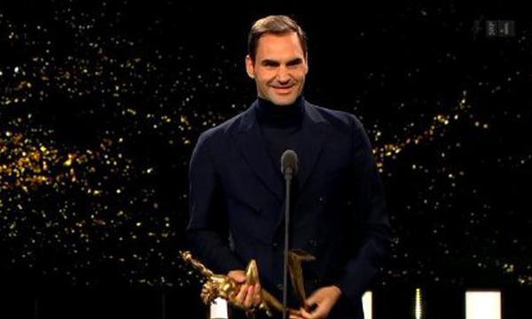 高清-费德勒荣膺70年最佳瑞士男选手奖