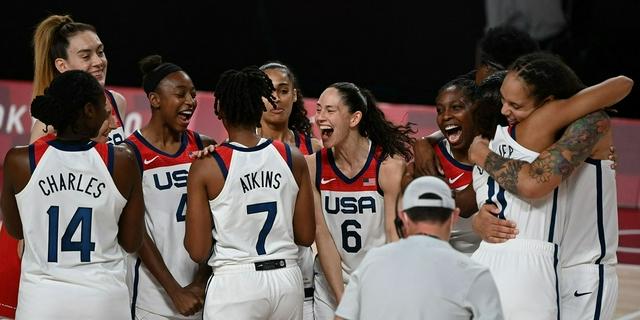 奧運7連冠 美國女籃15分大勝日本