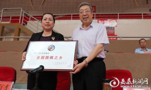 """中国围棋协会于2018年正式准许娄底。市为""""全国围棋之乡"""""""