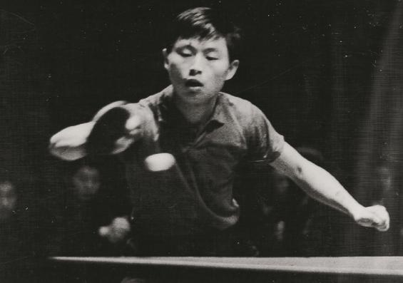 图说:徐寅生少年时在球场上的英姿 原料图