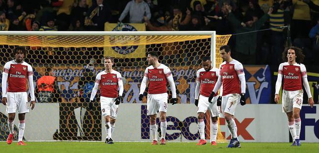 欧联杯-拉卡泽特红牌 阿森纳进攻哑火首回合客负
