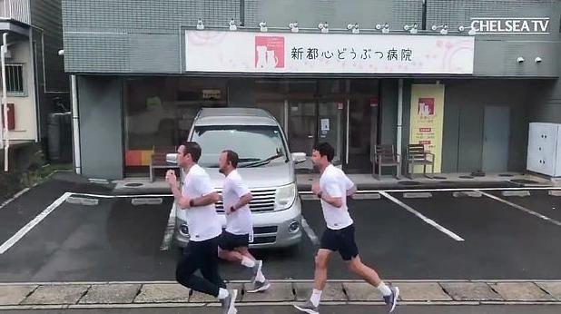 兰帕德跑9公里回酒店