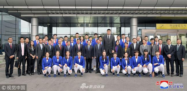 中国男女篮访问朝鲜