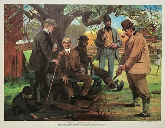 高尔夫收藏与历史之51 老苹果树帮-美国高球先驱
