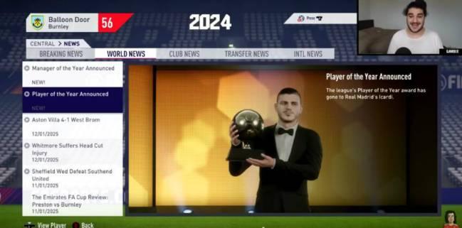模拟未来10年金球奖:C罗内马尔各1次 梅西无缘