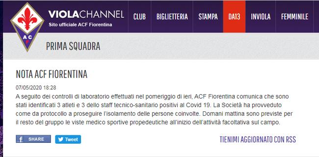 佛罗伦萨官方网站截图
