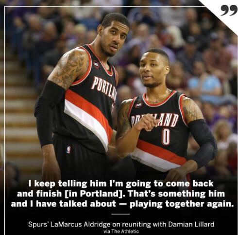 當年的事已翻篇!馬刺大當家將回波特蘭終老,聯手Lillard再次衝擊總冠軍!-Haters-黑特籃球NBA新聞影音圖片分享社區