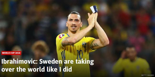 霸气!伊布:我曾统治整个世界 轮到瑞典统治了