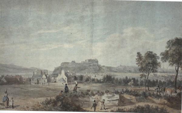 1747年布朗兹菲尔德林克斯,远处为爱丁堡城堡