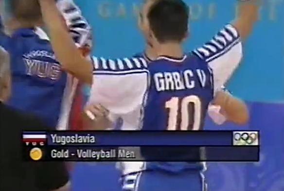 南斯拉夫获悉尼奥运会男排冠军