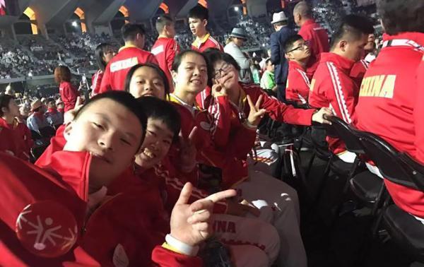 特奥会迎来50周年 中国代表团最小选手年龄仅10岁
