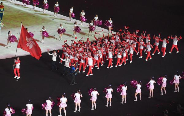 第hg0088如何开户届全国青年活动会开幕式举走,中国香港活动员代外团入场收获炎烈掌声。