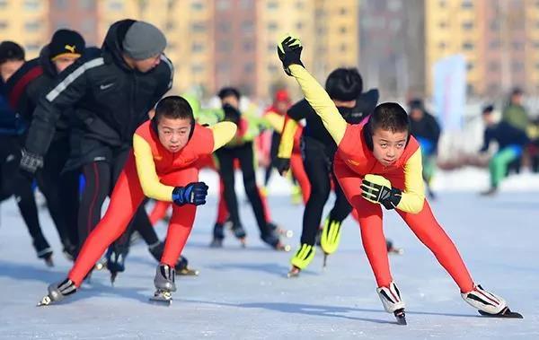 青少年滑冰