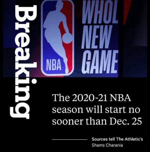 NBA开赛时间不会早于圣诞节 目标打满82场