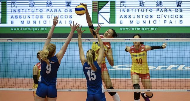 世界女排联赛-中国1-3负塞尔维亚