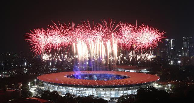 雅加达亚运会开幕式盛大举行