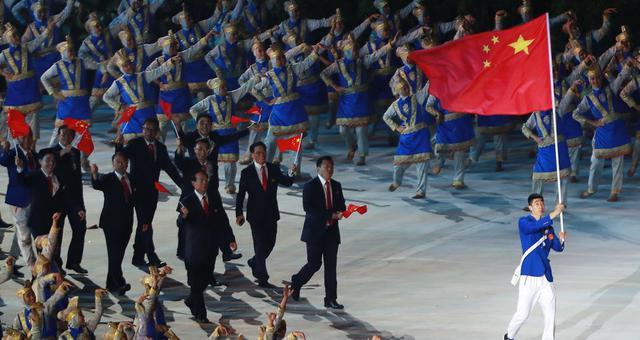 亚运会开幕式中国代表团入场