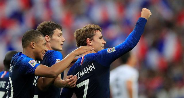 欧国联-格列兹曼两球救主 法国2-1德国