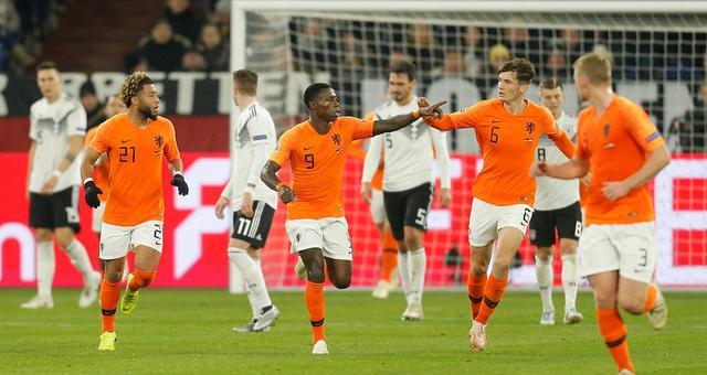 欧国联-荷兰连追2球2-2德国头名晋级