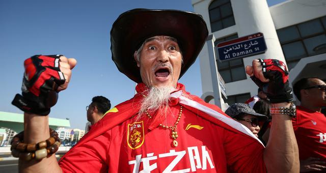 亚洲杯球迷皇帝罗西领衔国足助阵团