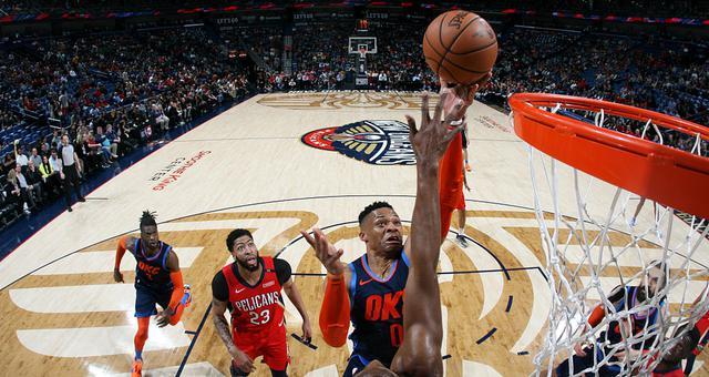 NBA-威少44分三双难救主 雷霆负鹈鹕