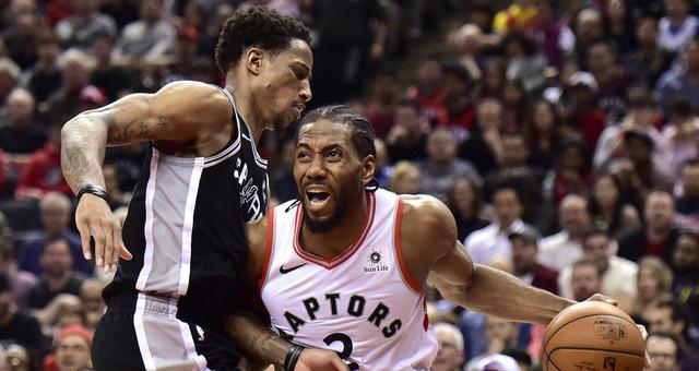 NBA-莱昂纳德25分 猛龙险胜马刺