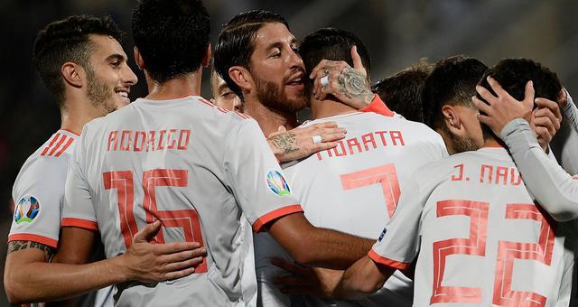 欧预赛-莫拉塔梅开二度 西班牙2-0胜