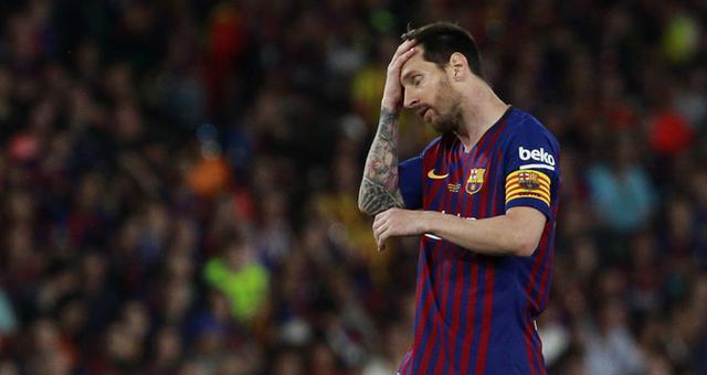 国王杯-梅西进球难救主 巴萨无缘双冠