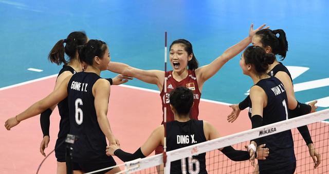 中国女排三连胜!夺世联北仑站冠军