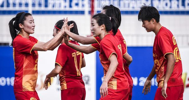 军运会-中国军人女足4-0美国进4强