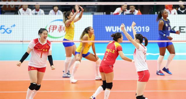 军运会女排决赛中国vs巴西