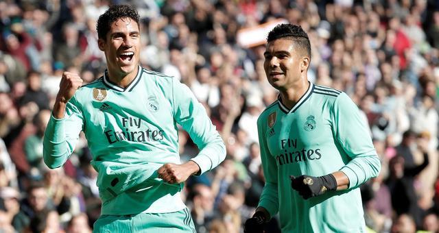 西甲-瓦拉内破门 皇家马德里2-0胜西班牙人