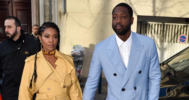 韦德和妻子现身巴黎 观看巴黎时装周