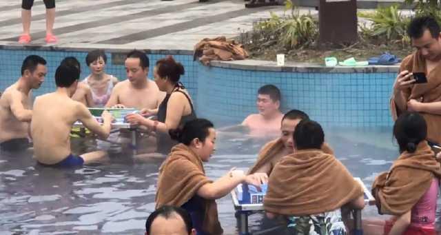 重庆举办温泉麻将赛