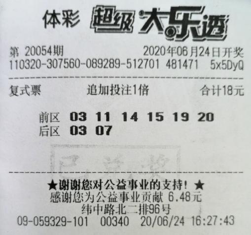 彩民6+2小复式命中大乐透2341万:坚持了20年-票