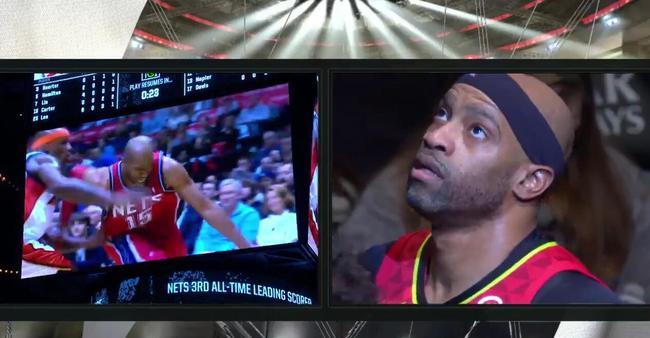【影片】老東家籃網隊致敬老卡特!看著十年前的自己他淚目了:青春再也回不去了!-Haters-黑特籃球NBA新聞影音圖片分享社區