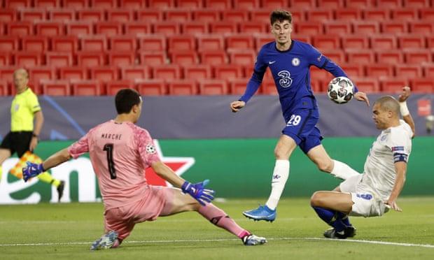 欧冠-伊朗前锋补时惊世倒钩 切尔西小负仍2-1晋级