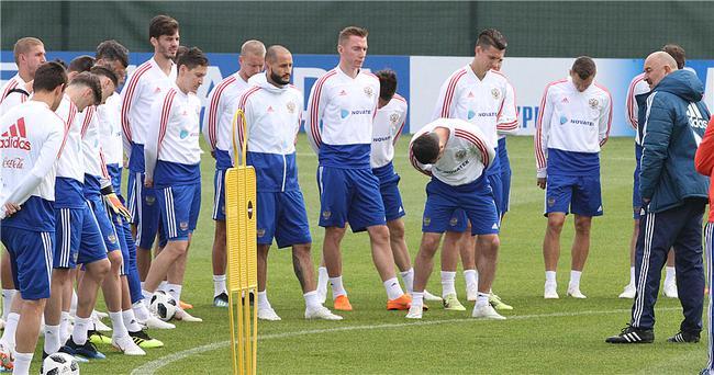 俄罗斯队的公开训练