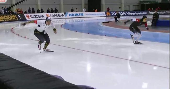 高亭宇(右)在比赛中 视频截屏