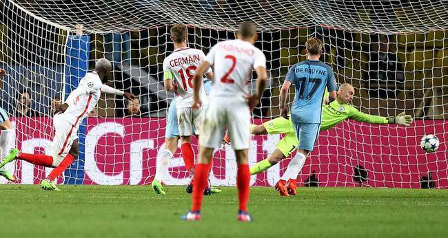 2016/17赛季欧冠曼城被摩纳哥淘汰