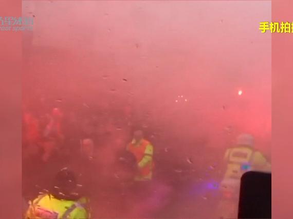 视频-曼城大巴欧冠赛前遇袭 欧足联介入调查