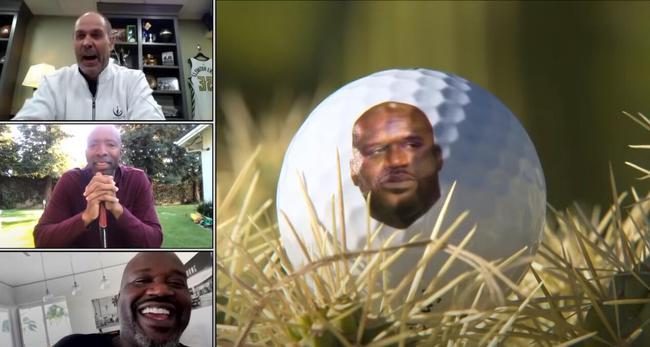 米克尔森激励巴克利出怪招 高尔夫球印上奥尼尔