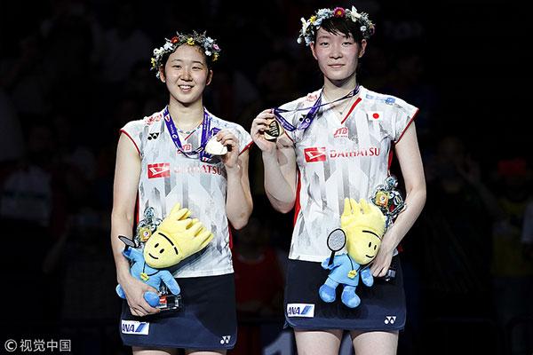 松本麻佑/永原和可那夺得今年世锦赛女双金牌
