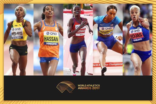 2019世界田径最佳女行动员候选名单出炉 科斯盖入围