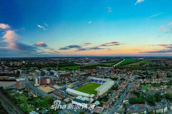 英格兰甲级联赛俱乐部彼得伯勒联主场航拍图