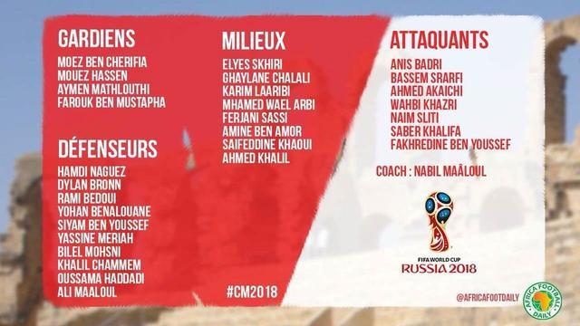 突尼斯世界杯名单