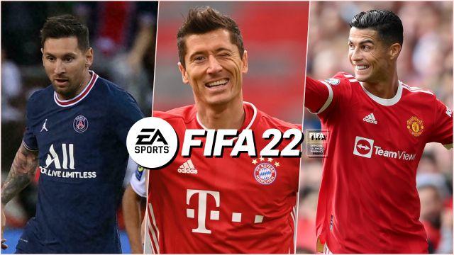FIFA22游戏公布球星评分:梅西第一莱万第二C罗第三