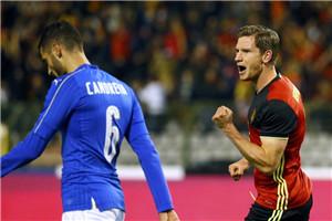热身赛-丁丁传射造逆转 意大利中楣1-3比利时
