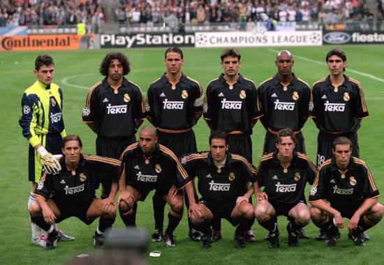 2000年欧冠决赛,皇马的首发阵容图片